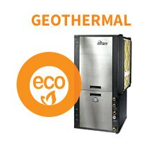 Geothermal heating and cooling products